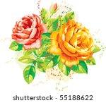 vintage arrangement of yellow... | Shutterstock .eps vector #55188622