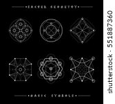 sacred geometry signs. set of... | Shutterstock .eps vector #551887360