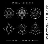 sacred geometry signs. set of... | Shutterstock .eps vector #551887444