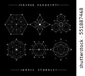sacred geometry signs. set of... | Shutterstock .eps vector #551887468