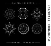 sacred geometry signs. set of... | Shutterstock .eps vector #551887534