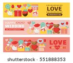 valentine and wedding colorful...   Shutterstock .eps vector #551888353