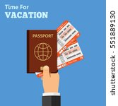 vacation and tourism concept... | Shutterstock .eps vector #551889130