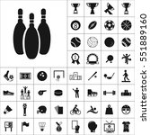 set of sports icons. contains... | Shutterstock .eps vector #551889160