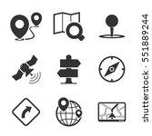 gps   navigation icons. black.   Shutterstock .eps vector #551889244