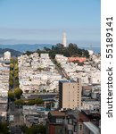 san francisco from the top of... | Shutterstock . vector #55189141