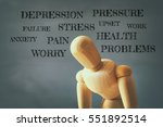 image of wooden dummy with...   Shutterstock . vector #551892514
