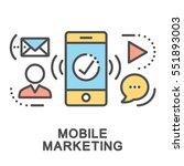 mobile marketing icons. mini... | Shutterstock .eps vector #551893003