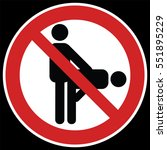 no sex sign. prohibiting sign... | Shutterstock .eps vector #551895229