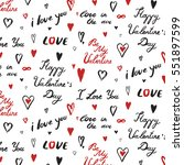 i love you valentine' s day... | Shutterstock .eps vector #551897599