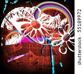 grunge background for text | Shutterstock .eps vector #55189972