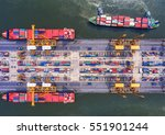 container container ship in... | Shutterstock . vector #551901244