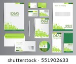 corporate identity template... | Shutterstock .eps vector #551902633