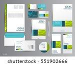 corporate identity template...   Shutterstock .eps vector #551902666