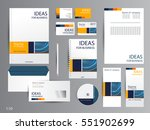 corporate identity template... | Shutterstock .eps vector #551902699