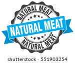 natural meat. stamp. sticker.... | Shutterstock .eps vector #551903254