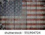usa flag on old wooden... | Shutterstock . vector #551904724