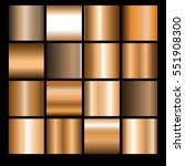 collection of bronze... | Shutterstock .eps vector #551908300