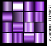 Collection of lilac backgrounds. Set of violet gradients.Vector illustration