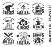 circus amazing show set of... | Shutterstock .eps vector #551908939