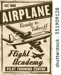 flight academy vintage poster...   Shutterstock .eps vector #551909128