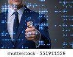 biometric identification...   Shutterstock . vector #551911528
