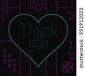 thank you day greeting card.... | Shutterstock .eps vector #551912023