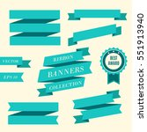 ribbon banners. collection of... | Shutterstock .eps vector #551913940