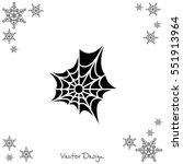 web line icon. spiderweb  web... | Shutterstock .eps vector #551913964