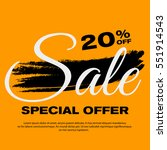 20  off sale banner. special... | Shutterstock .eps vector #551914543