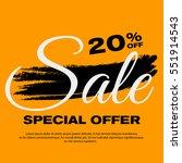 20  off sale banner. special... | Shutterstock .eps vector #551914543