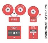 fire alarm | Shutterstock .eps vector #551914798