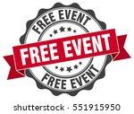free event. stamp. sticker.... | Shutterstock .eps vector #551915950