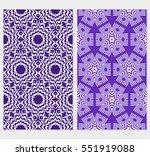 set of floral creative... | Shutterstock .eps vector #551919088