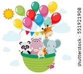 animals  panda  elephant ... | Shutterstock .eps vector #551921908