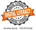 digital literacy. stamp.... | Shutterstock .eps vector #551922136