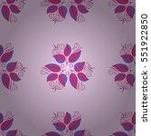 vintage floral seamless pattern.... | Shutterstock .eps vector #551922850