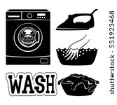 washing machine. | Shutterstock .eps vector #551923468