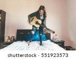 young beautiful eastern woman... | Shutterstock . vector #551923573