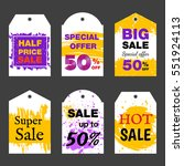 set of sale label price tag...   Shutterstock .eps vector #551924113