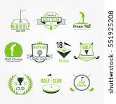 golf club vector badges set of... | Shutterstock .eps vector #551925208