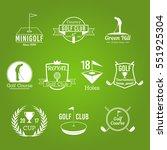 white golf club vector badges... | Shutterstock .eps vector #551925304
