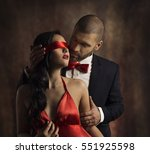 sexy couple love kiss  man in... | Shutterstock . vector #551925598