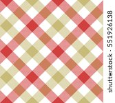 Red Beige Diagonal Checkered...