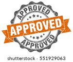 approved. stamp. sticker. seal. ... | Shutterstock .eps vector #551929063