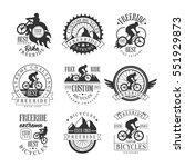 custom made free ride bike shop ... | Shutterstock .eps vector #551929873