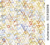 seamless triangle pattern.... | Shutterstock .eps vector #551930098