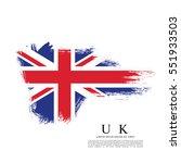 flag of the united kingdom of... | Shutterstock .eps vector #551933503