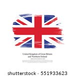 flag of the united kingdom of... | Shutterstock .eps vector #551933623