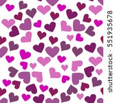 seamless pattern with hearts.... | Shutterstock .eps vector #551935678
